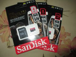 Карты памяти microSanDisk SDHC Extreme PRO 4, 8, 16GB 4К 10 кл