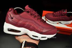 подростковые кроссовки Nike Air Max 95 черные, белые, бордовый 36-41р