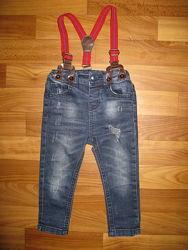 джинсы и спортивные штаны мальчику на 1-3 года