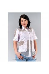 Шикарная блуза для лета 100 хлопок размер 50, 52
