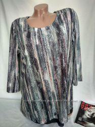 Аккуратная эластичная блуза с подкладом рукав 34 р. m , от bonita