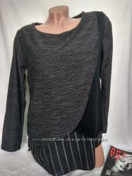 Комбинированная блуза спереди на запах р. m - нюанс, италия