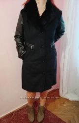дубленка зимнее пальто 52-52 р искусственная