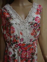 Платье макси с цветами 50.