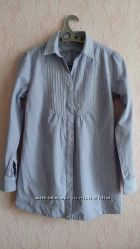 Жіноча подовжена рубашка в полоску, 44-М