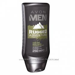 Шампунь-гель для душа Avon Men Rugged Adventure
