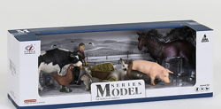 Набор ферма игрушки конь корова курица гусь свинья