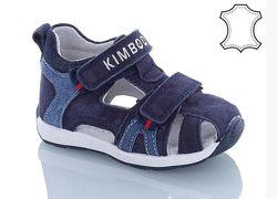 Kimboo h116-1k замшевые босоножки на мальчика синие с закрытым носком