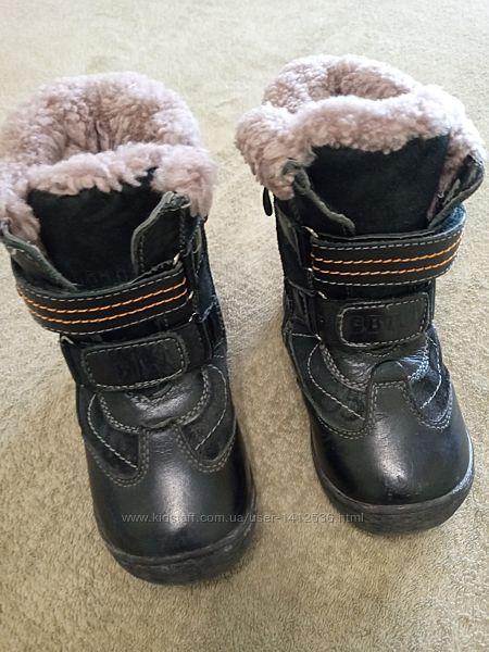 Продам зимние кожаные сапожки стелька 15 см