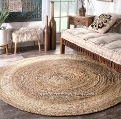 Эко-коврик крючком из джута