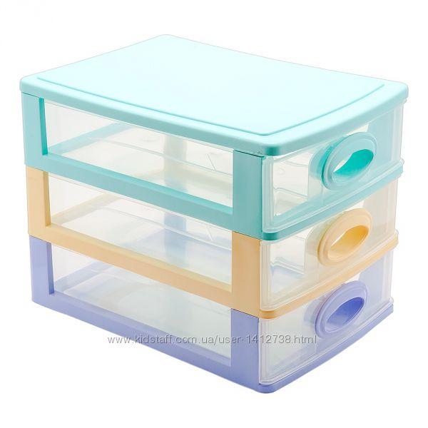 Комод пластиковый медиум 3 ящика
