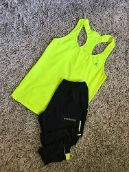 Спортивный комплект набор футболка  шорты капри размер м