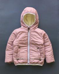 Теплая куртка зимняя демисезонная на рост 80-134см еврозима