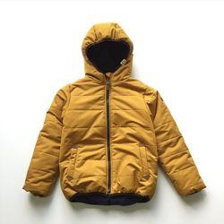 Стильная демисезонная куртка тёплая на флисе