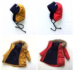 Теплая зимняя парка куртка фемилилук Familylook курточка