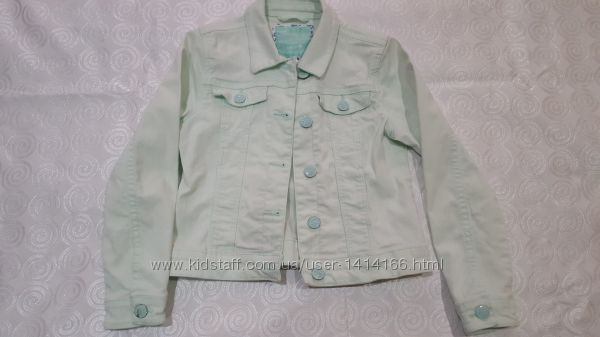 Куртка джинсовая на девочку Here&Tere салатовая рост 134 см