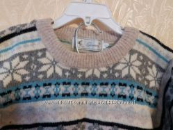 Теплый шерстяной свитер на 4-6 лет