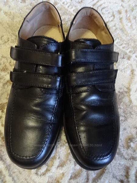Туфли школьные полностью кожа 34р.