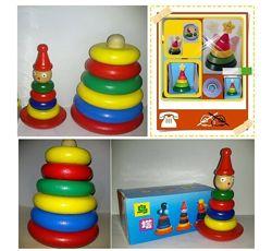 Игрушки, пирамидки, деревянные неваляшки, деревянные игрушки, деревянная пи