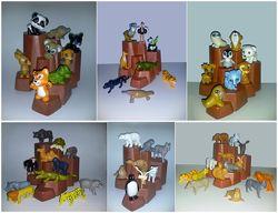 Игрушки серии животных только серией 6 серий игрушек полные серии