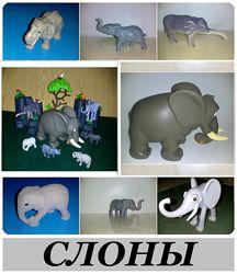 Игрушки разного размера фигурки африканский индийский Слон, в. ч и киндеры