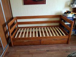 Детская Кровать Нота. одноярусная кровать односпальная кровать Нота