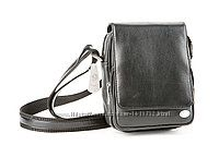 Черная мужская сумка-барсетка из натуральной кожи