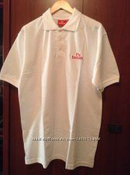 Новая белая футболка поло Эмиратские авиалинии XL- XXL р-р на высокий рост