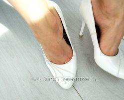 Туфли белые 23 см по стельке, размер 35