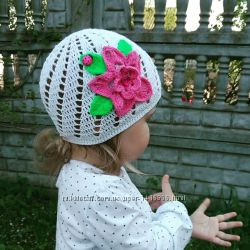 Панамка, шапочка на лето. Ручная работа