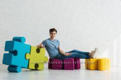 Поролоновые пуфы-пазлы для детей и взрослих