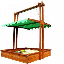 Песочница с крышкой, деревянная размер 145х145 см