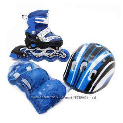 Набор роликов шлем защитасумка 34-38