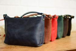Кожа. Ручная работа. Кожаная женская сумка, сумочка. Кожаный женский клатч