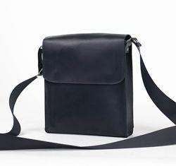 Ручная работа. Кожаная мужская сумка планшет через плечо. Барсетка