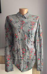 Фирменная рубашка в цветочный принт Zara
