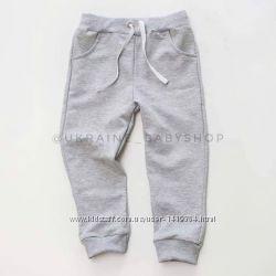 Трикотажные спортивные штаны, хлопок, рост от 80 до 152