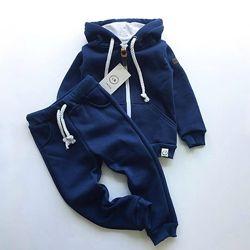 Теплый спортивный костюм 3-х нитка с начесом, рост от 80 до 128