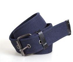 Ремень в джинсы черный, серый текстиль