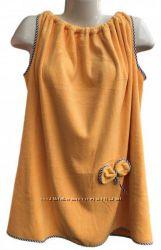 Полотенце - халат на резинке плотная микрофибра