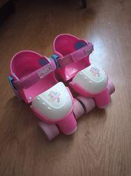 Роликовые коньки раздвижные детские квады ролики