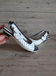 Нарядные туфли балетки в горох lLelli Kelly 30 р 19, 5 см кожа