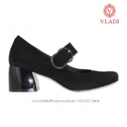 Туфли на среднюю ногу черный синий шоколад