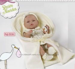 Кукла, испанский пупс младенец 42см, с одеялом и соской, Berbesa 5106, Берб