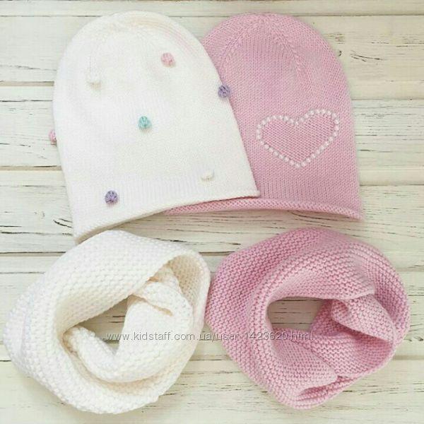 Демисезонная шапочка  для девочек