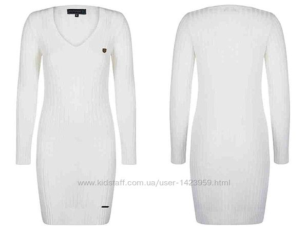 Платье трикотаж белое Sir Raymond Tailor Турция XS/S