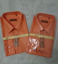 Рубашка мужская оранжевая kongres, р. 40-43, турция.