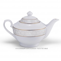 Заварочный чайник белый с декором