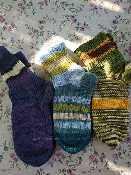 Носки шерстяные вязаные вручную детские