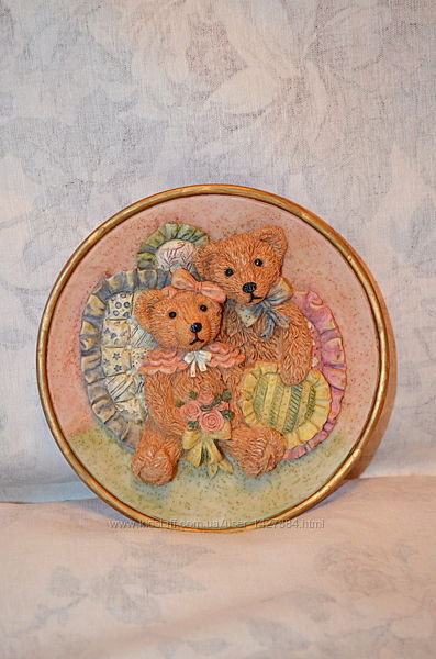 Декоративная подвеска, панно с мишками, romance by regency fine arts